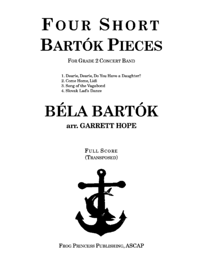 Four Short Bartok Pieces by Garrett Hope